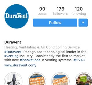 DuraVent Instagram Profile