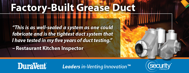 """""""This is as well sealed a system as one could fabricate and is the tightest duct system that I have tested in my five years of duct testing."""" –Restaurant Kitchen Inspector"""